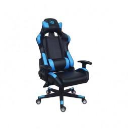CoolBox Deep Command Silla para videojuegos de PC Asiento acolchado Negro, Azul