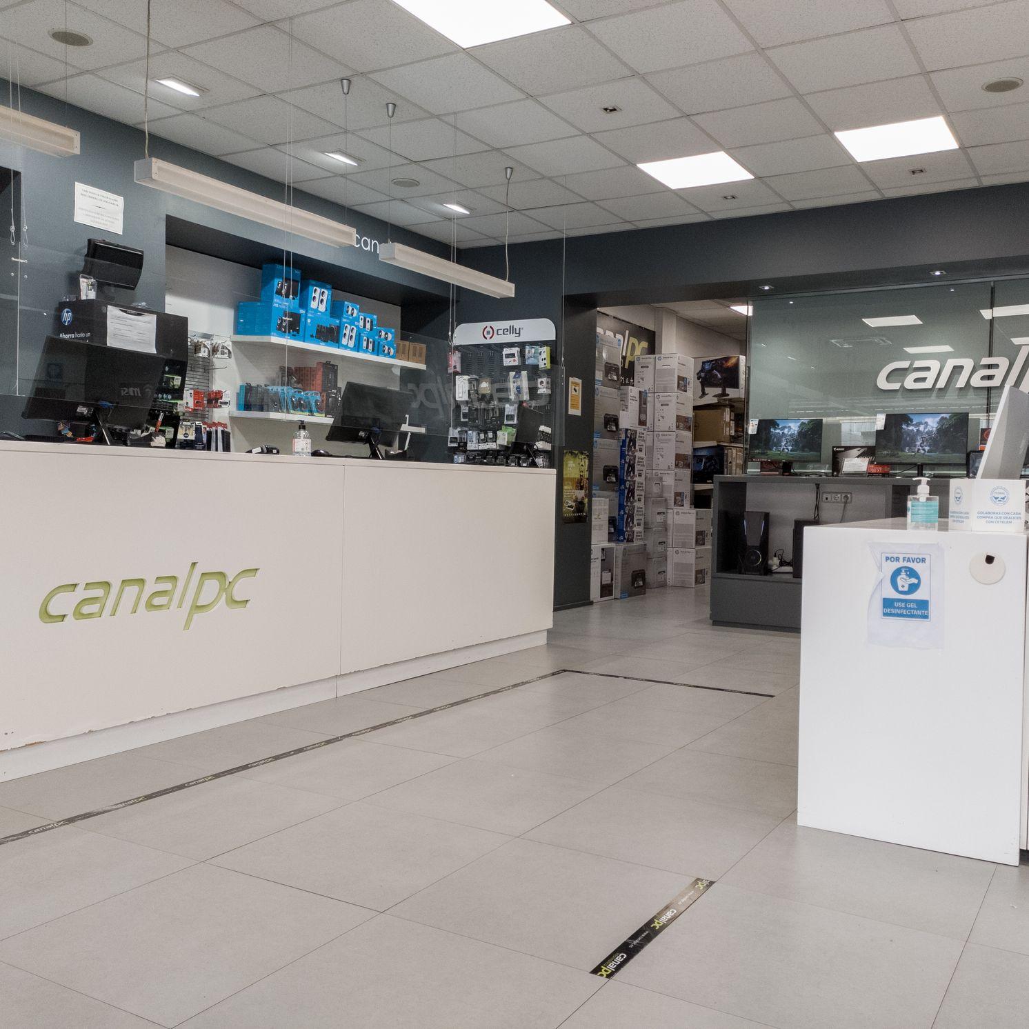 entrada canalpc interior tienda